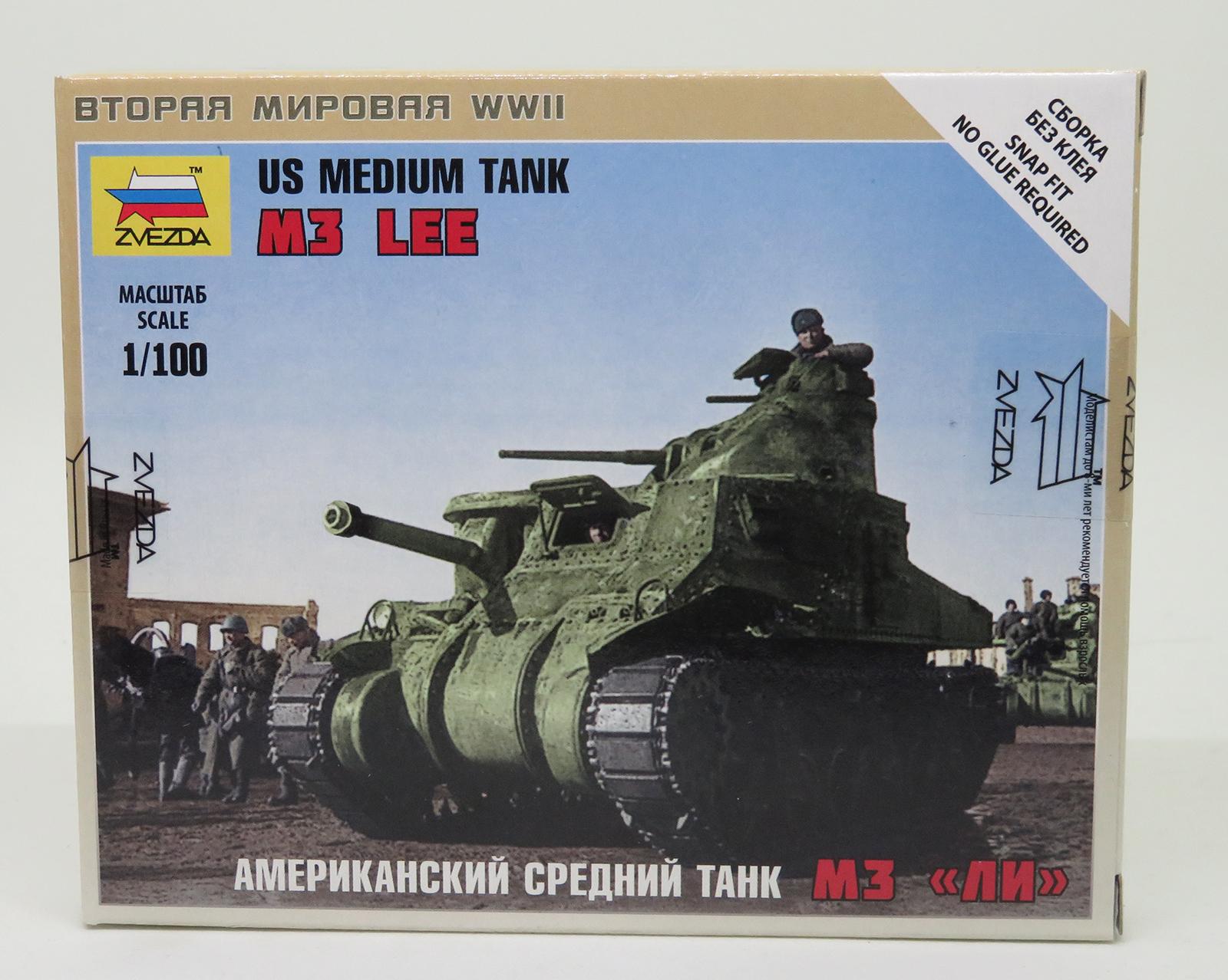 Zvezda  1//100  US M3 Lee Tank Snap ZVE6264
